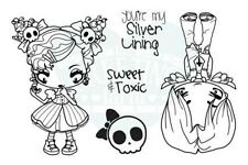 SWEET N TOXIC-The Greeting Farm Cling Rubber Stamp-Stamping-Creeper Crew-RETIRED