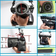 66 ft universal underwater case with HD lens for Canon Nikon DSLR Canon EOS 80D