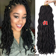 "20"" Freetress Wavy Faux Locs Hair Extensions Goddess Crochet Dreadlocks 3packs"
