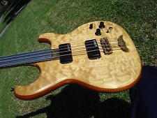 Alembic Spoiler 4 String Bass Fretless Stainless Steel Fingerboard