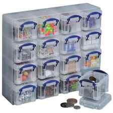 Really Useful Storage Clear or Colour Box Organiser 16 x 0.14 Boxes Art & Craft