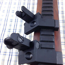 Front & Rear Rapid BUIS Backup Iron Sights Picatinny Mount  flip up 45 Degree