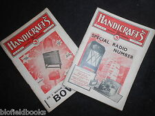 Vintage Woodworking Magazine; HANDICRAFTS (1932) For Amateur Woodworkers, Crafts
