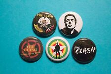 """5 1"""" The Clash Joe Strummer Straight to Hell Combat Rock pinback badges buttons"""