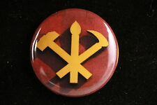 "DPRK North Korea Korean Workers Party Communist Kim Il-Sung 1"" Button Badge Pin"