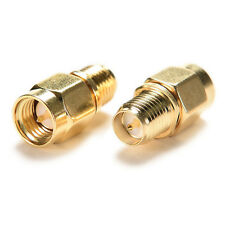 2 X Adapter RP-SMA Female to SMA Male Plug Both Male Center Straight RF
