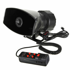 12V Horn Motorcycle Van Auto 5 Sound Tone Amplifier Speaker With PA System 300db