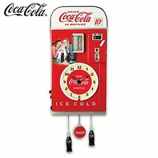 COCA-COLA 1950s-Style Vending Machine Illuminated Wall Clock -  Time For Refresh