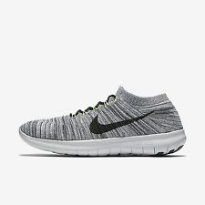 Men's Nike Free RN Motion Flyknit Running Shoe White Black Size 14 834584 100