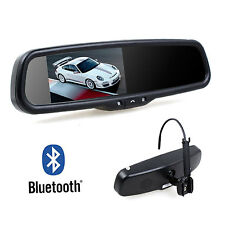 Built in Bluetooth Rearview Mirror Monitor Dual Video Inputs For DVD GPS Camera