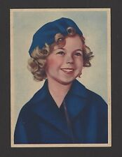 "Shirley Temple 1936 Nestle Stars of the Silver Screen Card #56 4""x6"""