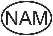 Adesivo adesivi sticker codice auto moto ritagliato nazioni ovale NAMIBIA