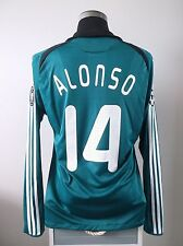 Xabi ALONSO #14 Liverpool Long Sleeve Third Football Shirt Jersey 2008/09 (L)