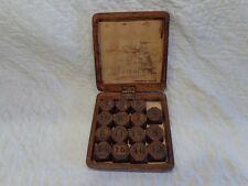 Rare 19th.c Antique Child's Number Puzzle Game, Folk Art Calligraphy Gift Label