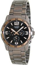 Casio MTP1299D-1A Mens 50M Water Resist Stainless Steel Dress Watch Black Dial