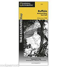 National Geographic Trails Illustrated AR Buffalo National River East Map 233