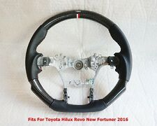 TOYOTA HILUX REVO FORTUNER  2016 STEERING WHEEL BLACK KEVLAR BLACK LEATHER TRD