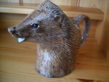 COLLECTABLE QUAIL POTTERY HEDGEHOG JUG BOXED