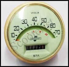 Lambretta Vintage LI Series 1/2 Speedometer 70 Mph Italian Thread Free Shipping