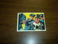 BATMAN card #24 Topps 1966 black bat/orange back