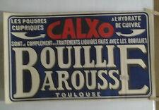 AFFICHE ORIGINALE ANCIENNE BOULLIE BAROUSSE CALXO  TOULOUSE HAUTE GARONNE
