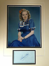 ALICE FAYE - AMERICAN ACTRESS & SINGER - EXCELLENT SIGNED PHOTO DISPLAY