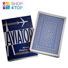 AVIATOR STANDARD INDEX BLUE DECK POKER PLAYING CARDS MAGIC TRICKS USPCC NEW