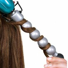 NEW Ceramic Styling Iron Curling Wand Teal Style Hair Waves Clamp Free Spiral