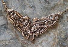 Kette BRONZE Collier Odin mit seinen Raben Hugin Munin Druide Wicca Hexen