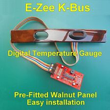 E-Zee K-Bus Digital Temperature Gauge for Rover 75 MG ZT Prefitted Walnut Panel