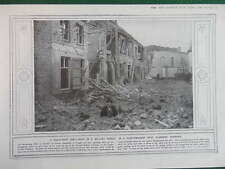 1914 WAIST-DEEP SHELL HOLE IN BELGIAN STREET WEST FLANDERS WW1 WWI