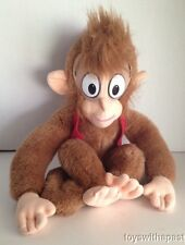 "1992 Mattel ABU Monkey Aladdin 14"" Disney Plush Fez Vest Stuffed Animal"