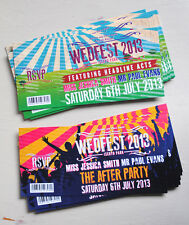 Wedfest Festival Ticket Wedding Invites (sample pack)