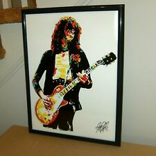 Jimmy Page, Led Zeppelin, The Yardbirds, Guitar Player, Rock, 18x24 POSTER w/COA