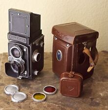 Rollieflex TLR WITH LENS HOOD AND FILTERS & CASES ser# 11288676 TLF 3.5 Ziess