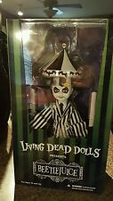 "NEW MEZCO TOYZ LIVING DEAD DOLLS ""SHOWTIME BEETLEJUICE"" COLLECTIBLE IN STOCK"