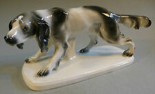 Art Deco Porzellan Jagdhund Wachtel Figur Tier Hund Jagd Jäger Thüringen um 1930