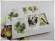 Malaysia 2013  Woodpecker  - FDC with Stamps & FDC with Miniature Sheet