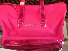 NWT AUTHENTIC VICTORIA SECRET HOT PINK LIMITED EDITION BLING TOTE DUFFLE LUGGAGE