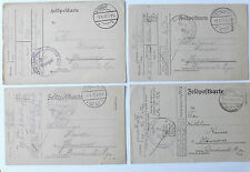 4 german feldpostkarte cards home army vehicle unit 322  kraftwagen kolonne