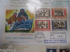 FIRST DAY COVER 1er JOUR POSTE VATICANO 1960 opere della misericorda vatican FDC
