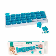 31 Day Monthly Pill Organizer Medication Pod Compartment Planner Box Travel Case