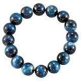 Natural Hawk's Eye Gemstone Round Beads Power Bracelet AAAA 8 MM