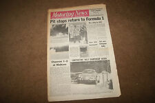 Motoring News 16 December 1971 World Rally Review Camaro Test Rallycross Cadwell