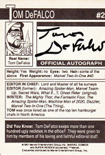 Tom de Falco (USA) Marvel Comic,Spider-Man,Scooby Doo original signiert/signed