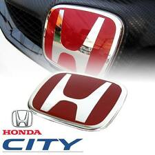 RED H LOGO EMBLEM BADGE DECAL PLATE FOR HONDA CITY 2008 2009 2010 2011 2012 2013