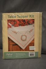 Craftways Table Topper Kit Christmas Ring of Holly 530260000 Stamped Embroidery
