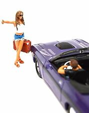 HITCHHIKER 2 FIGURE SET AMERICAN DIORAMA 23996 1:24 ACCESSORY MODEL NOT INCL