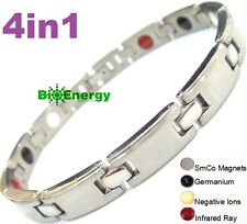 Magnetic Energy Germanium Power Bracelet Titanium 4in1 Bio Armband Arthritis