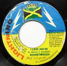 ASHANTIWAUGH I Love Jah So / Miguel Special 45 Reggae LIGHTNING #A315